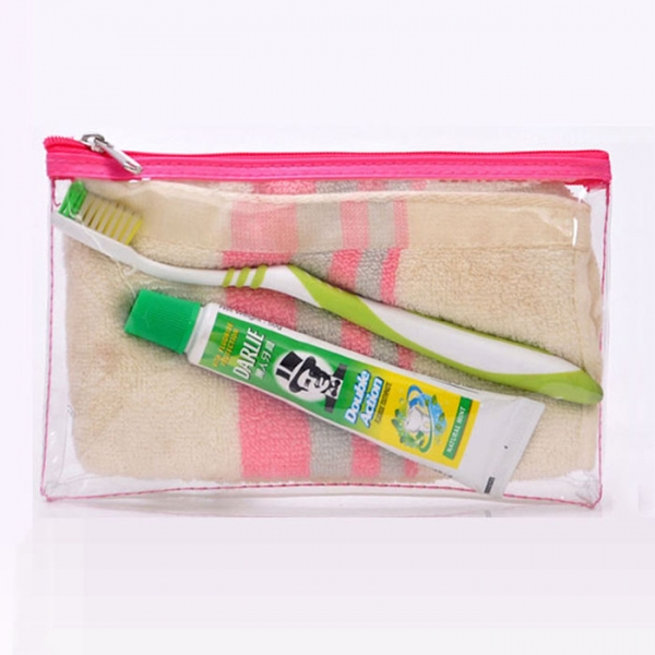 PVC flat toiletry bag Chin...