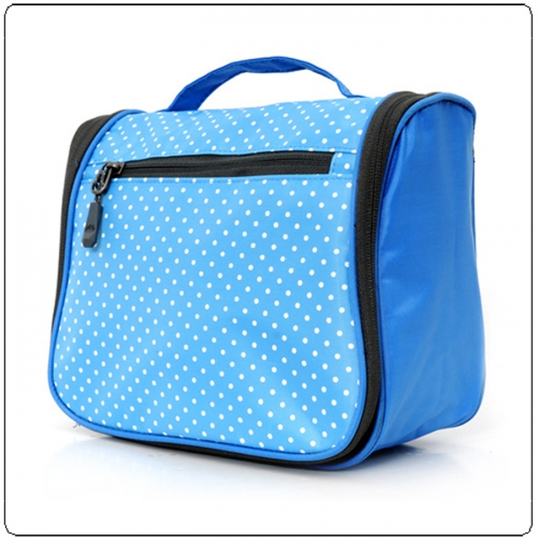 Pokla dots print hanging travel cosmetic case wholesales