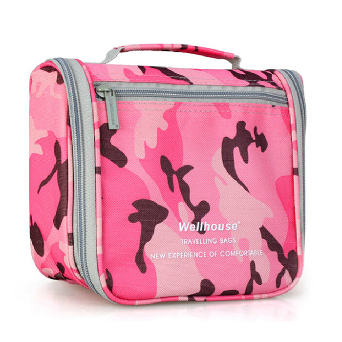 multi camo color military toiletry bag for tourism