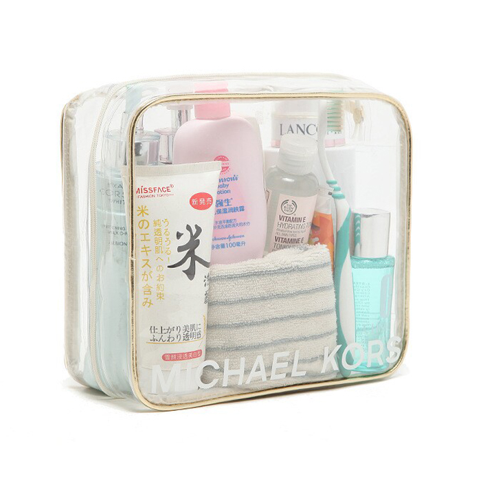 Clear PVC plastic  toiletry bag