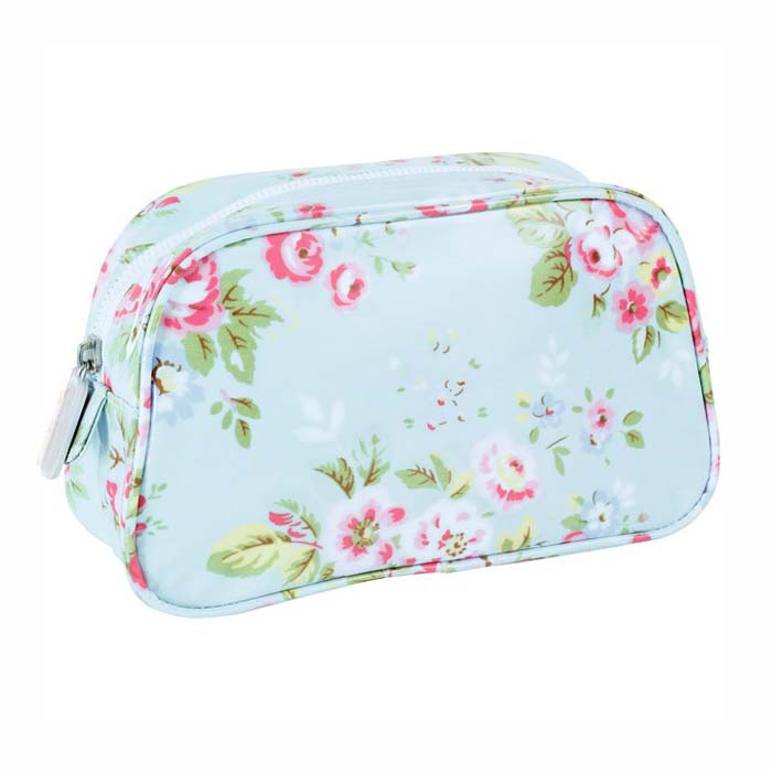 floral canvas makeup toiletry...