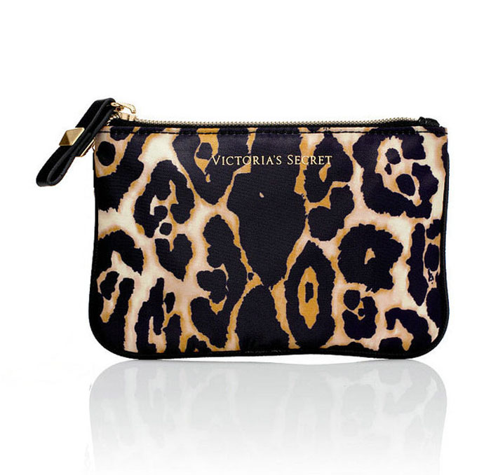 leopard print designer makeup cosmetic bag
