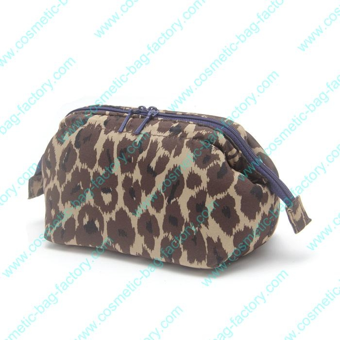leopard print best travel cosmetic bag wholesale