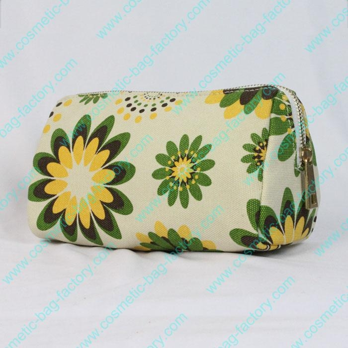 China makeup cosmetic bag of best floral canvas