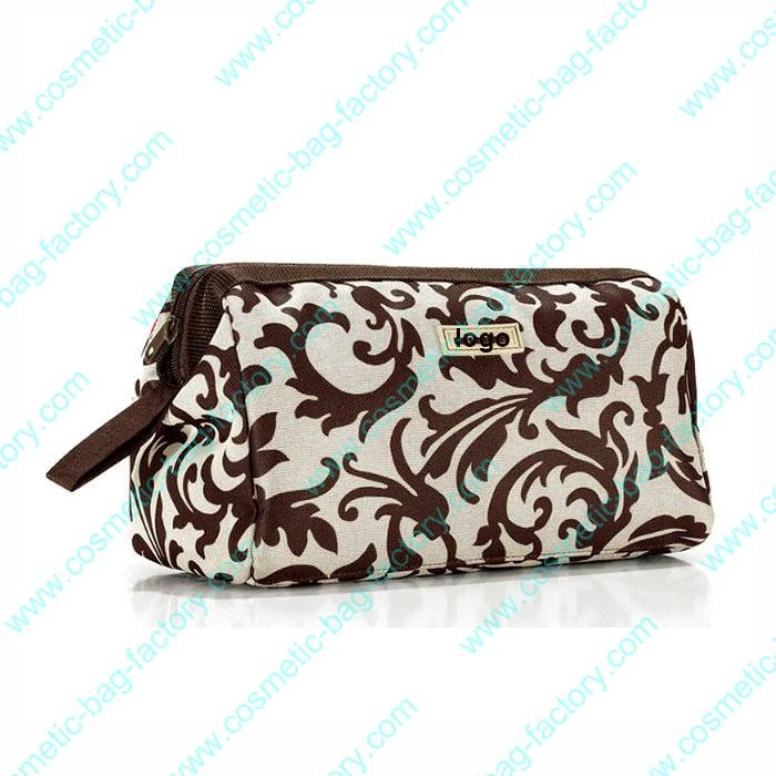 floral fabric cosmetic bag fo...