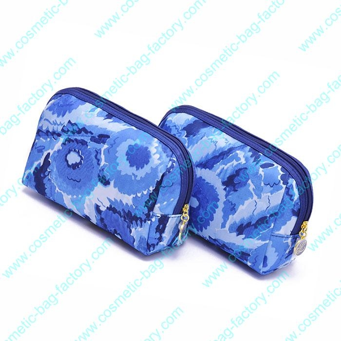 National lady travel leather cosmetic pouch bag