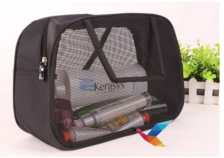 Wholesale PVC mesh Cosmetic bag for travel