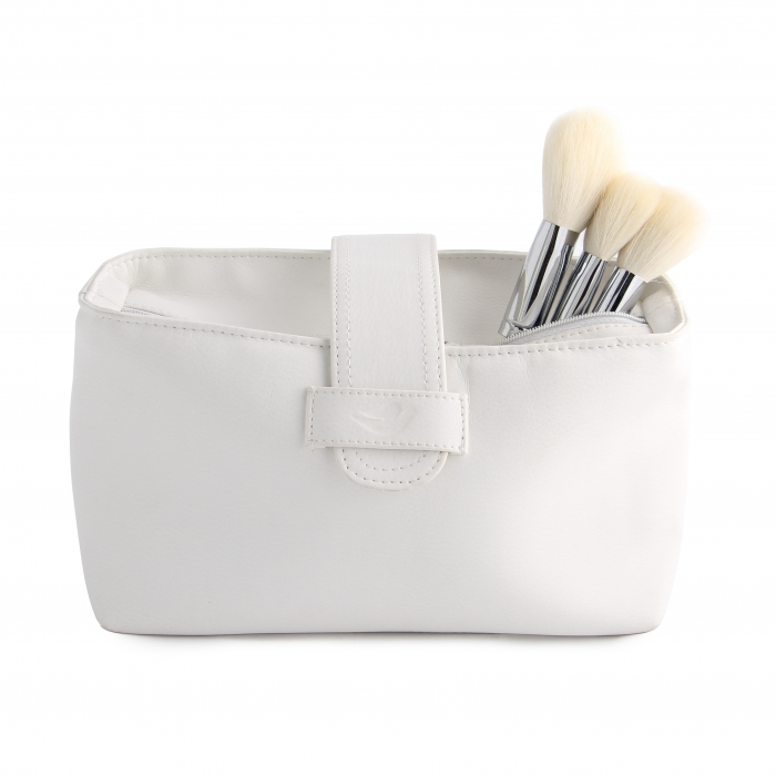 Pure white cheap cosmetic pouch bulk
