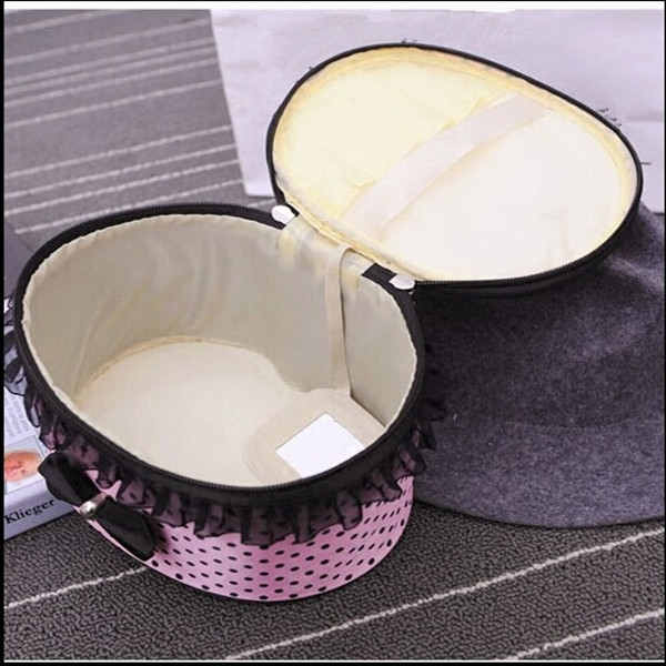 polyester round cosmetic box