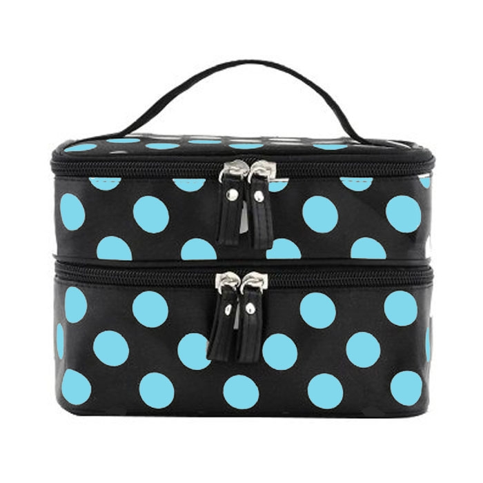 With Mirror cosmetic bag