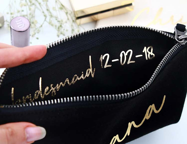 personalized canvas makeup bags