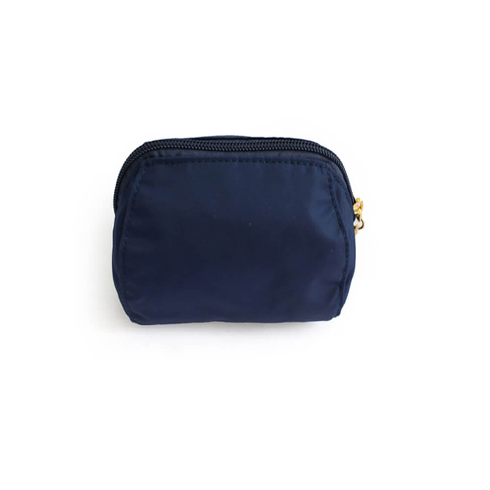 Manufacturer custom logo royal blue cute small makeup pouch bag FY-A6-017
