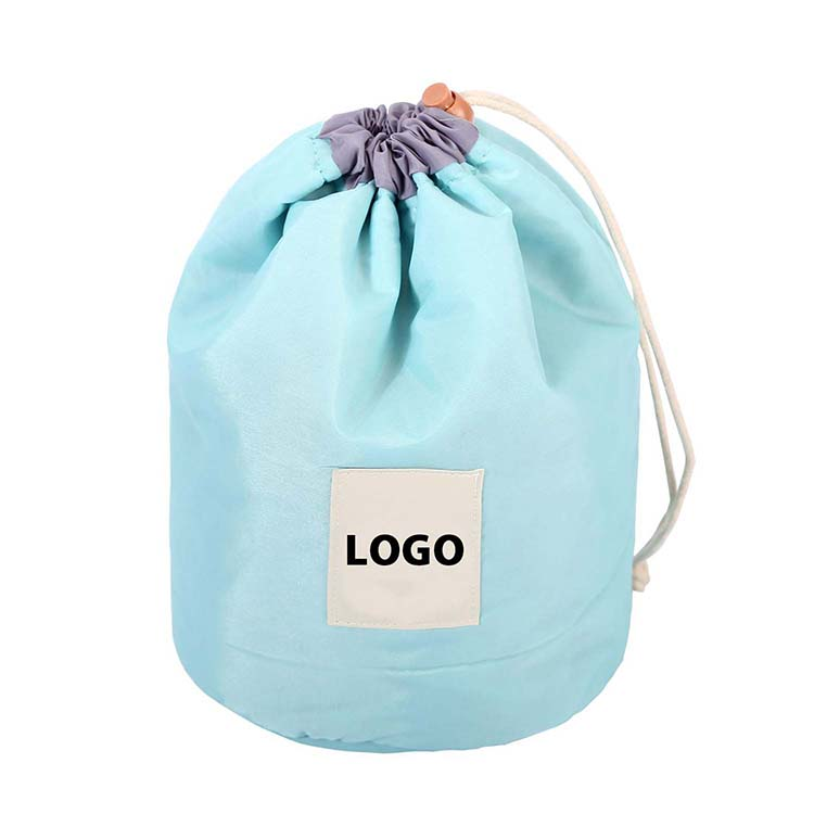 Barrel shaped drawstring cosmetic bag nylon FY-A6-002