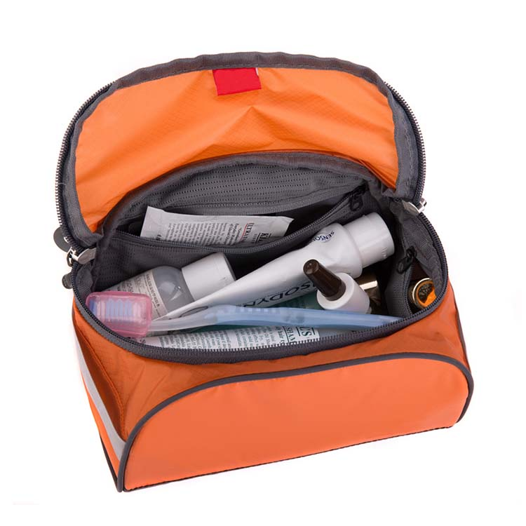 Wholesale travel orange waterproof cosmetic bags FY-A6-003