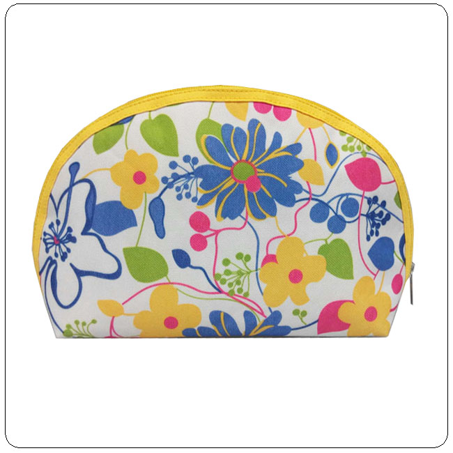 beautiful floral case women cosmetic bag manufacturer