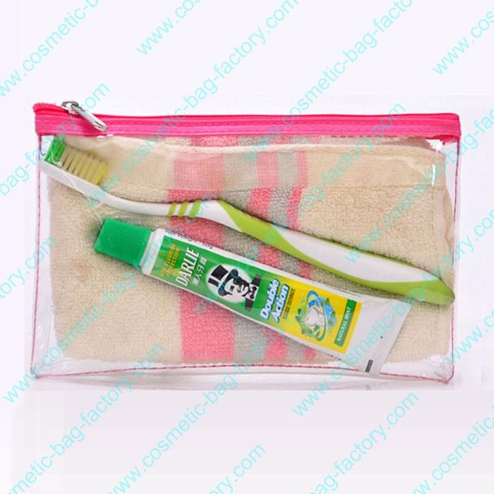 PVC flat toiletry bag