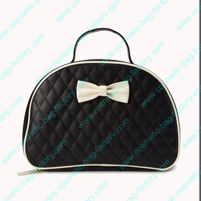 ladies quilted travel cosmetic toiletry bag