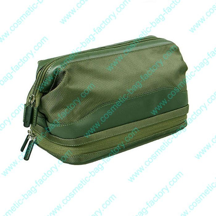 double layer weekender cosmetic bag for men